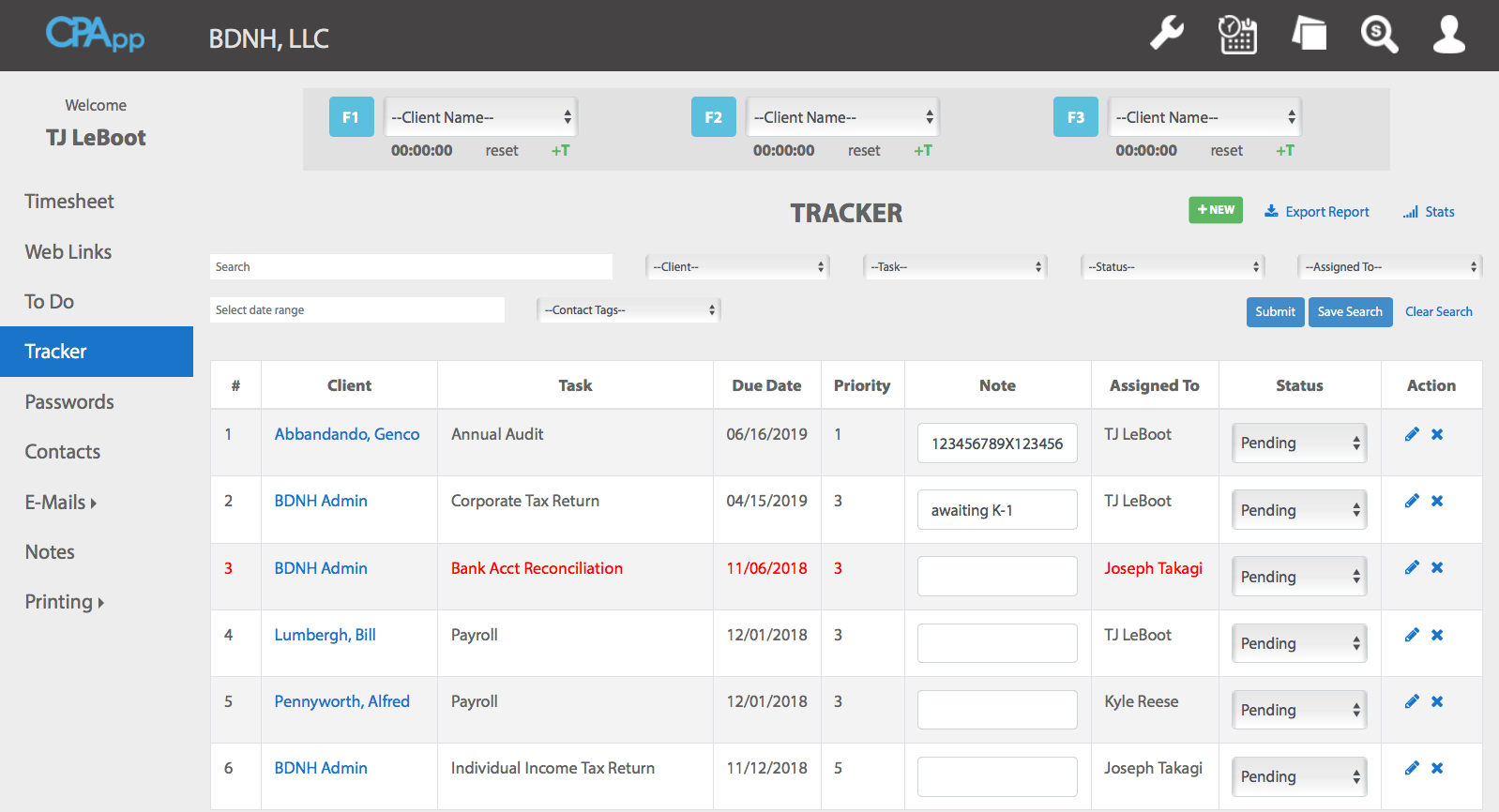 Getting Started: Tracker - CPApp
