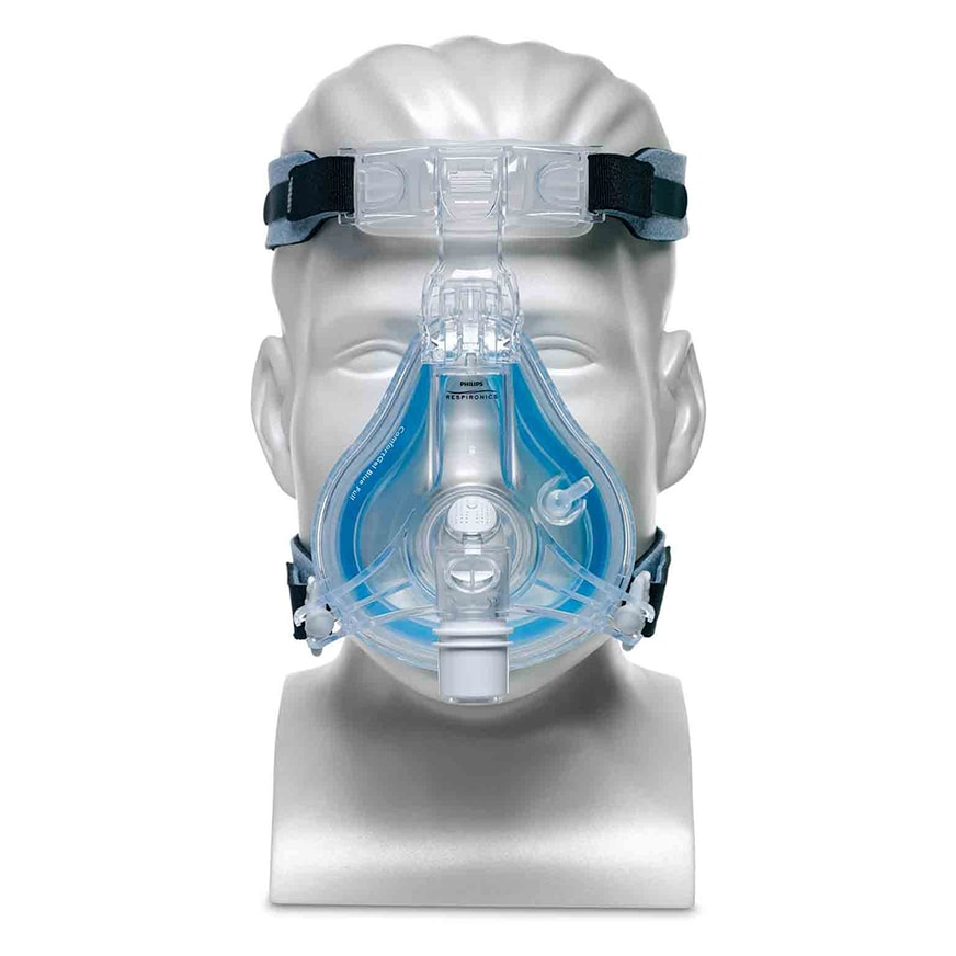 ComfortGel Blue Full Face CPAP Mask with Headgear by Philips Respironics - CPAP Store Los Angeles
