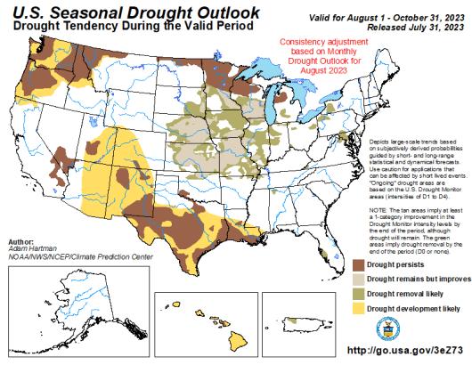 United States Seasonal Drought Outlook
