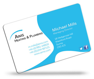 Business Card Printing For Plumbers Cpcards