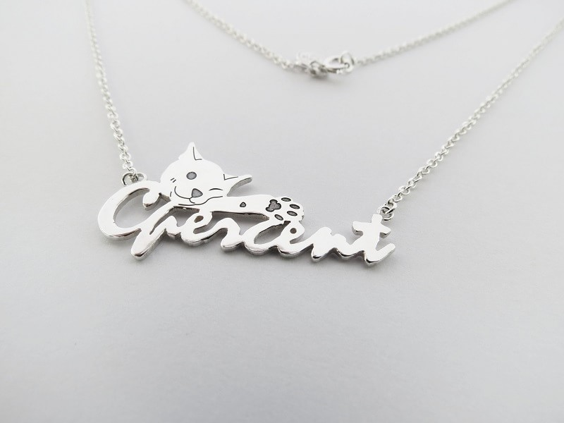 【英文字母動物項鍊】Cpercent貓咪 - 客製化訂做 - C percent手工飾品