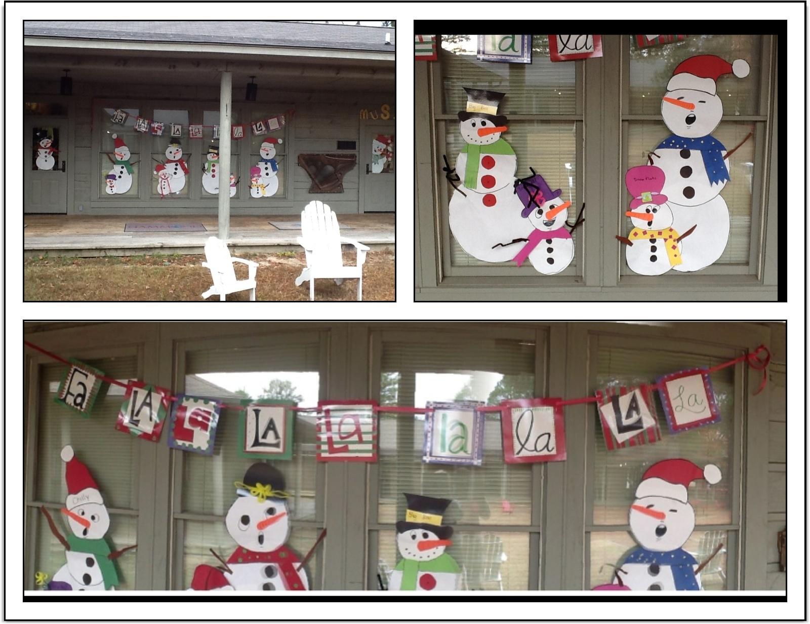 Music Classroom Door Decoration Ideas ~ Snowman music door decorations just a little more