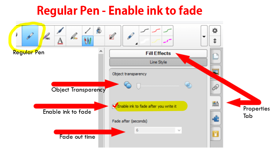 Regular pen enable ink to fade