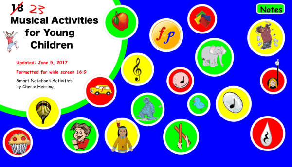 23 Updated SMARTboard Musical Activities for Young Children