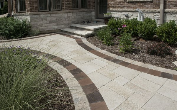 brick paving landscaping - landscape