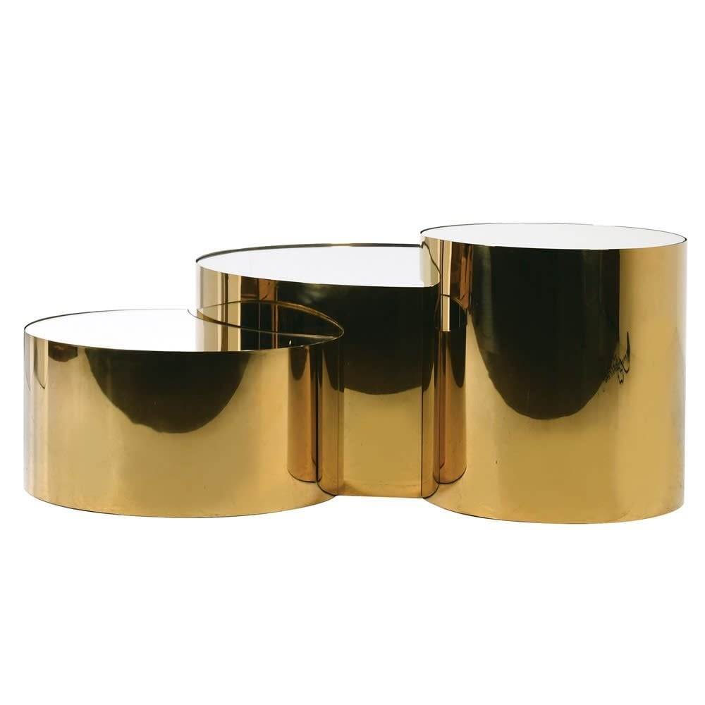westminster gold mirror coffee table