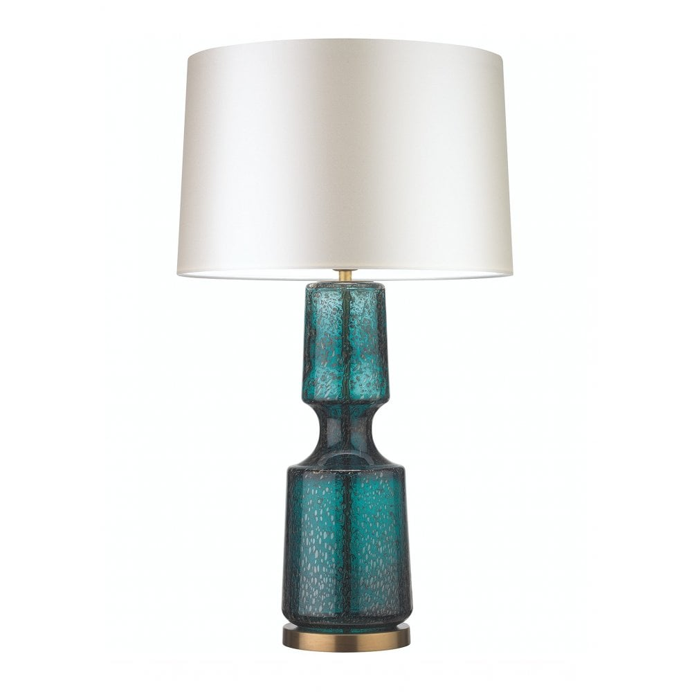Heathfield Co Anterno Teal Glass Table Lamp Shade Interior Lighting From Cp Lighting Interiors Uk
