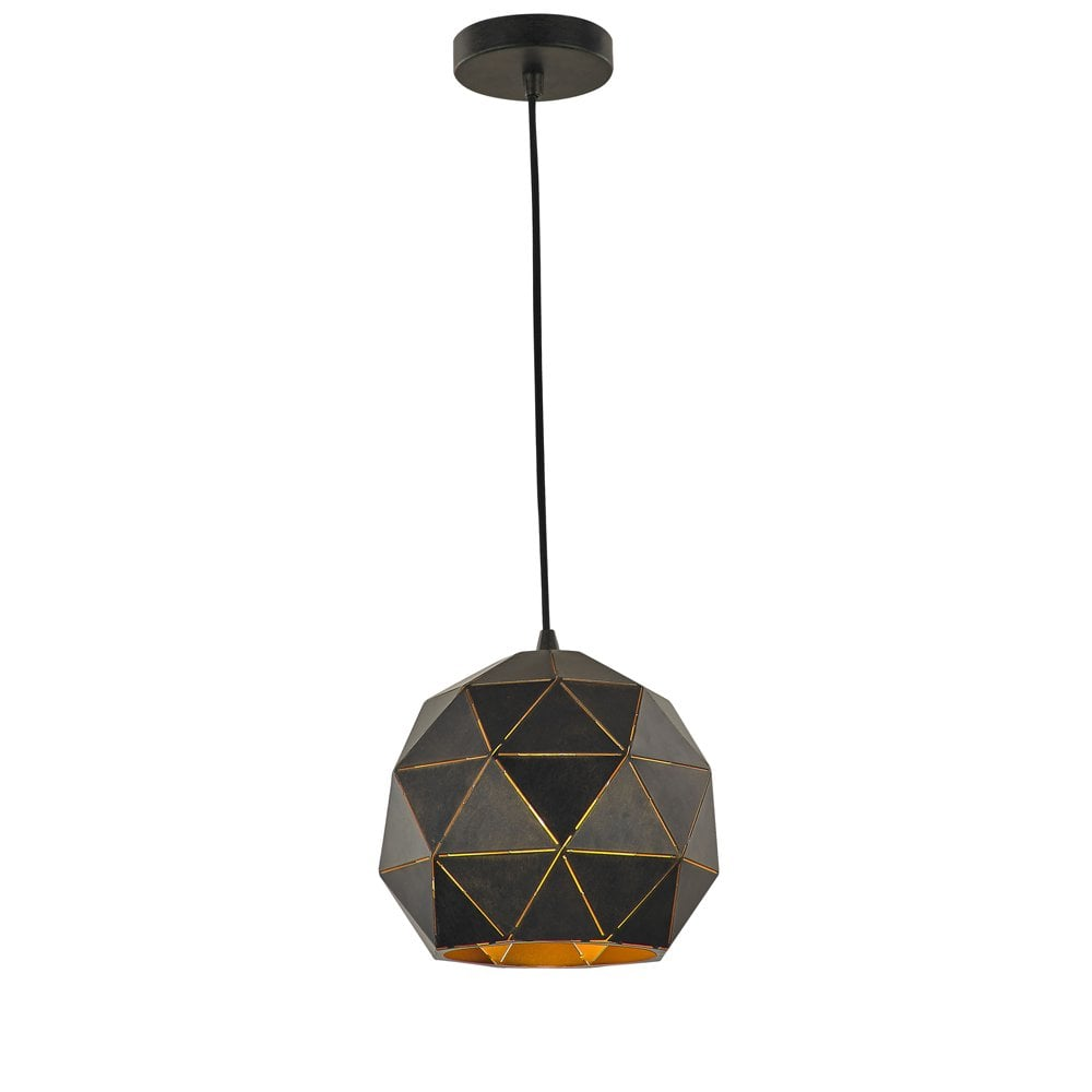 tangent lighting helix small black gold single pendant