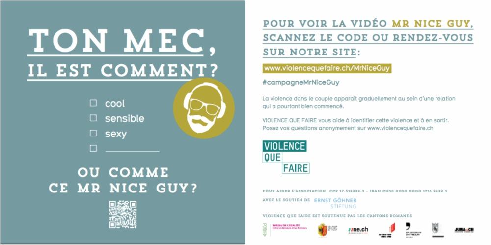 Mr Nice Guy : une campagne de sensibilisation à la violence conjugale