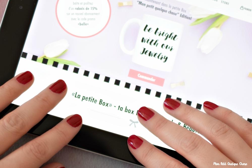 Ma collaboration avec la petite Box - Mon Petit Quelque Chose