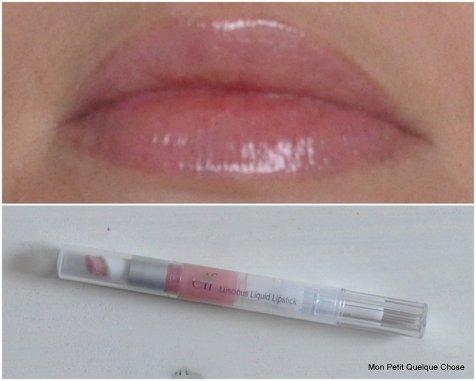 Baby Lips, Luscious Liquid Lipstick de E.L.F. / idée de make-up avec le fard Kiko 111