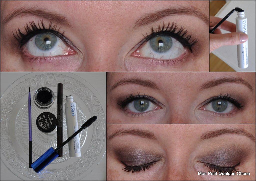 Gel liner d'Essence, Limitless Liner pen de Smashbox, Luxurious lashes de Kiko,Fine Liner Brush Real Techniques