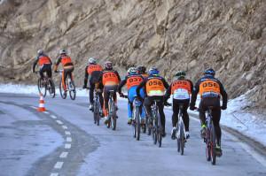 Primeros kilómetros del segmento ciclista