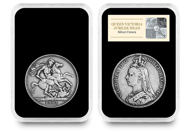 cpm uk 1887 queen victoria jubilee head silver crown in slab - Dissecting a Design: The coin that offended the Queen