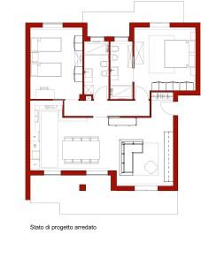 Arredamento interni pianta progettazione on line