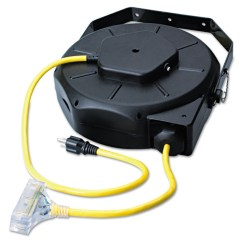 Extension Cord Reel 1966 Ford Alternator Wiring Diagram Cci 48208902 50 Ft Retractable Industrial Yellow Black