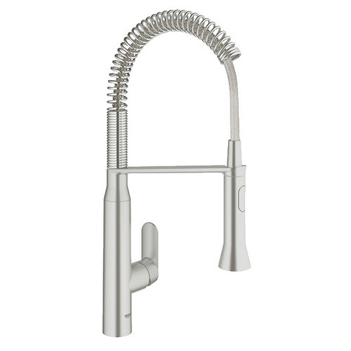 professional kitchen faucet staten island cabinets grohe 31380dc0 1 2 in k7 medium semi steel