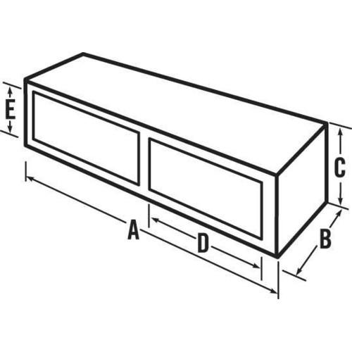 JOBOX 574002D Delta Pro 96 in. Aluminum Topside Truck Box