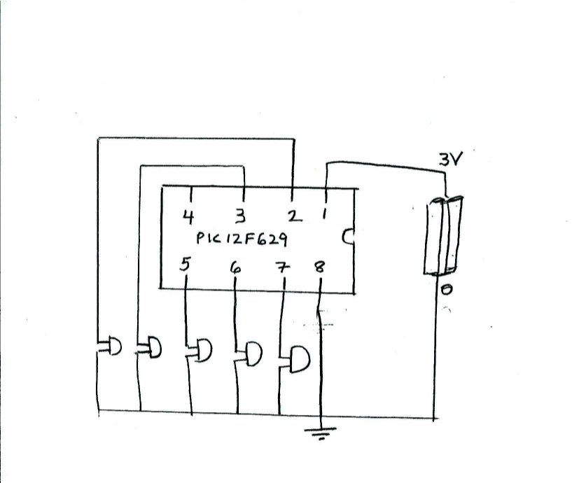 the circuit schematic for the blinking led we will build with a
