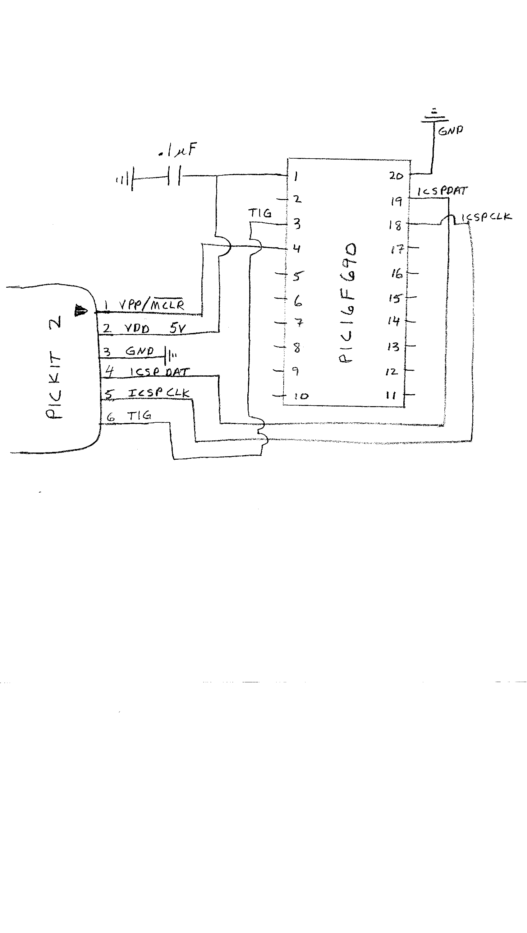 pickit 2 programmer circuit diagram 4 3 liter engine first program the pic chip with test asm