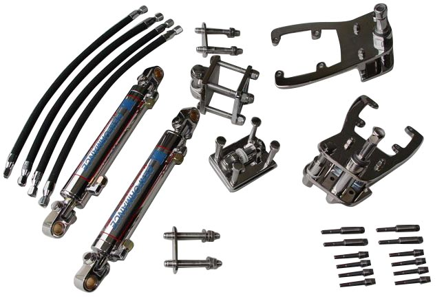 Single Bravo Dual Ram Add-On External Hydraulic Steering