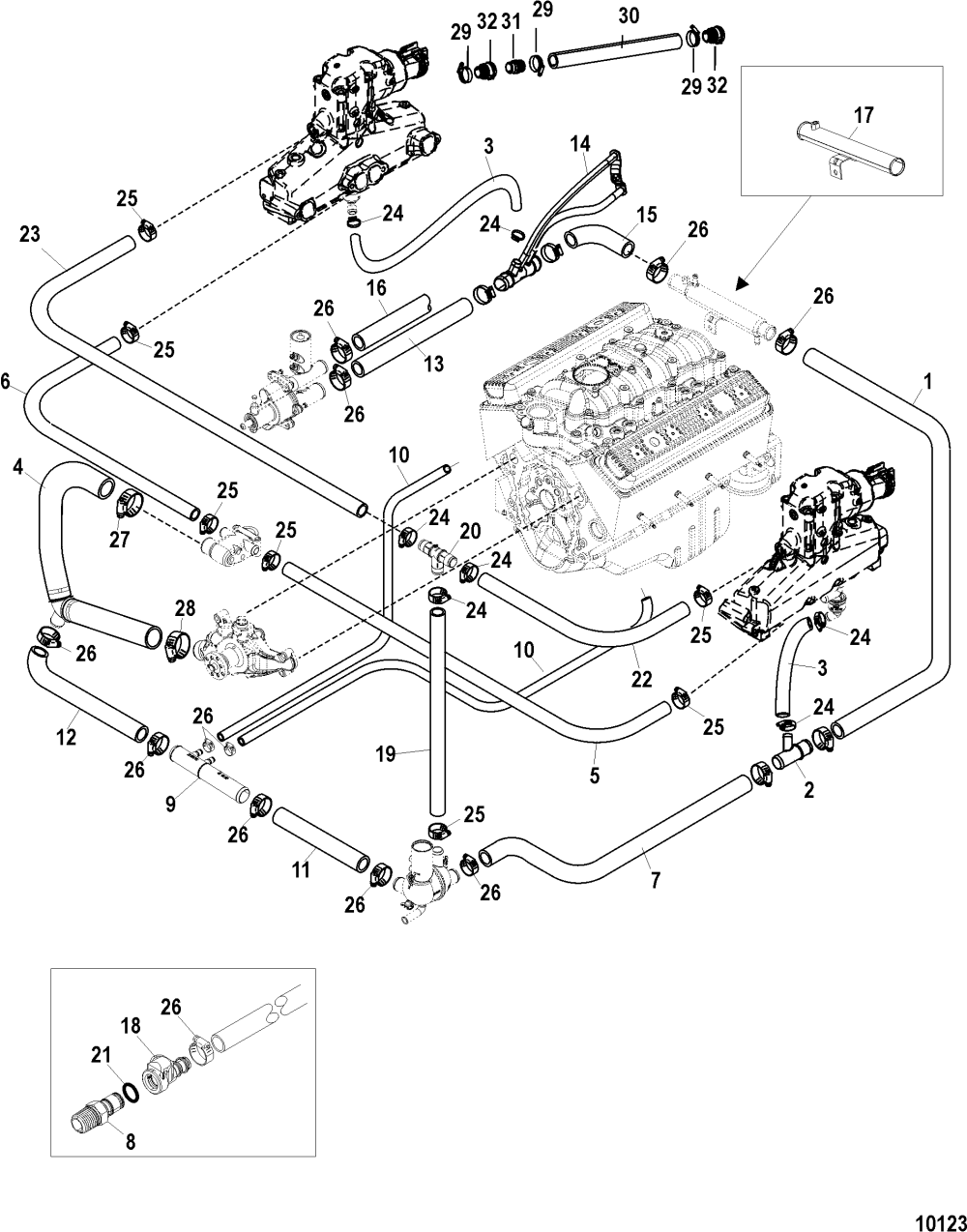 medium resolution of mercruiser engine cooling diagram wiring library 350 mag mpi alpha bravo serial 0w060000 thru 0w309999 standard