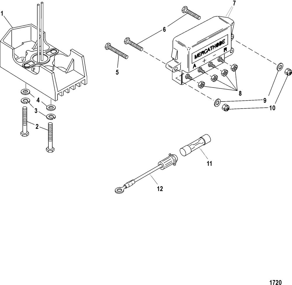 medium resolution of mercathode wiring diagram wiring diagrams scematic wiring diagram fuel pump on 4 3lx mercruiser cp