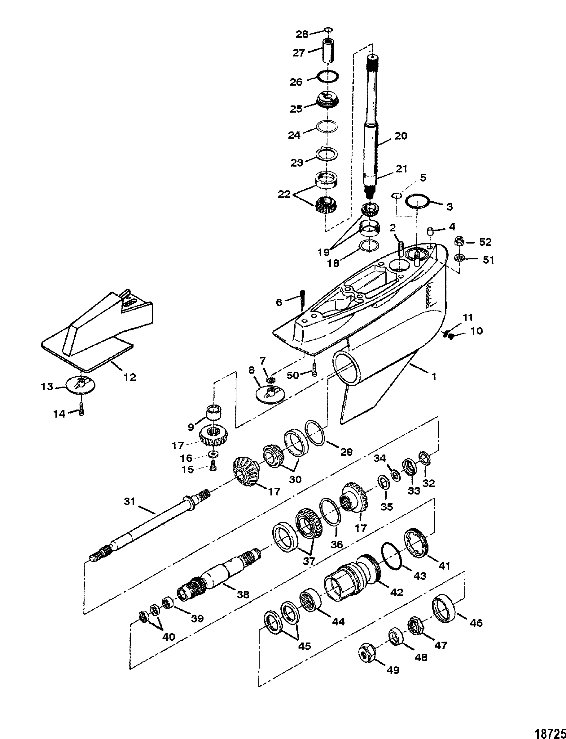 bravo 1 outdrive parts diagram pioneer deh p2900mp wiring cp performance gear housing iii