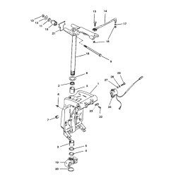 225 efi pro max and super mag serial 0d935638 thru 0g610103 swivel bracket and steering arm [ 1001 x 1000 Pixel ]