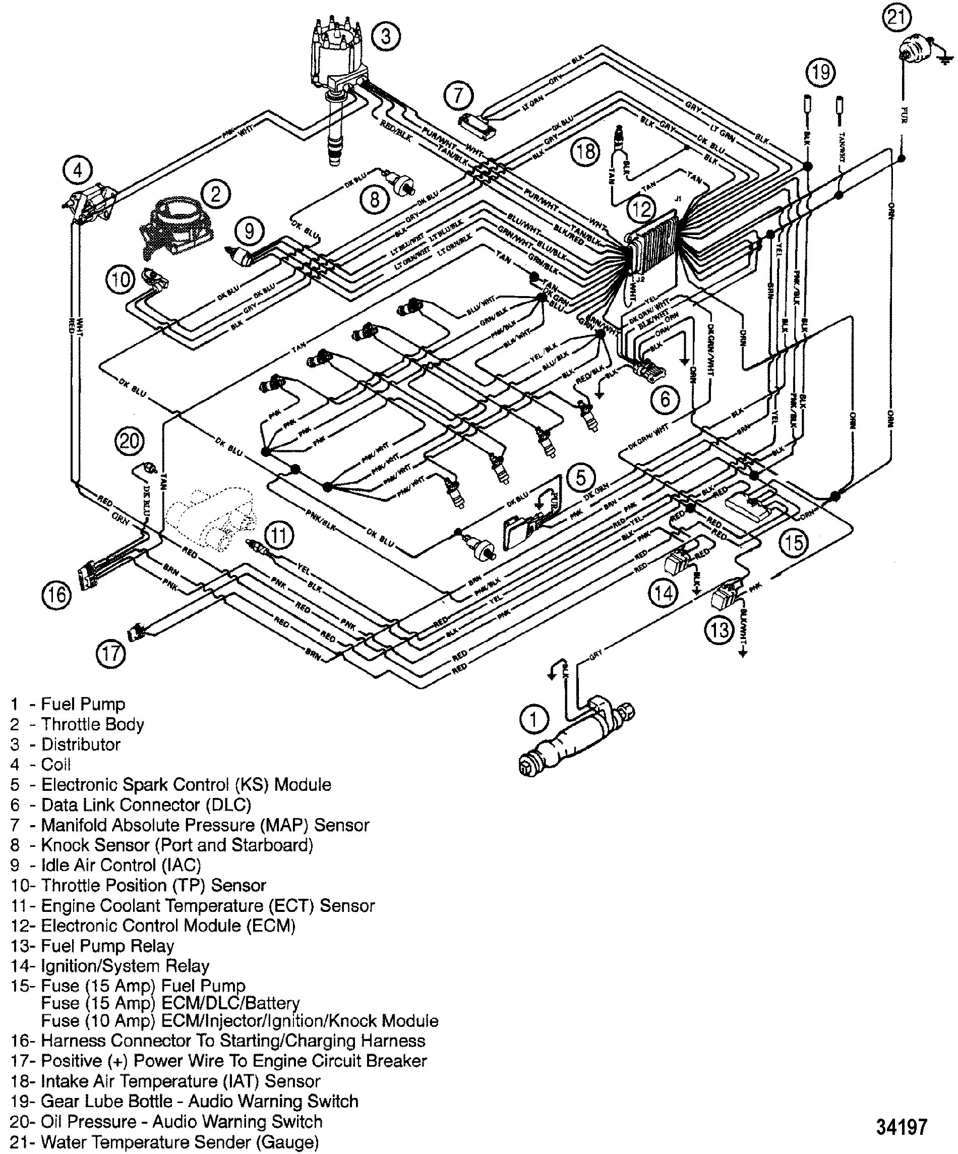 hight resolution of  jet boat wiring diagram 21 cp performance wiring harness efi 7 4l mpi bravo gen 6 gm