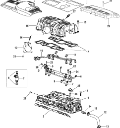 7 4l mpi bravo gen 6 gm 454 v 8 1998 2000 serial 0l010003 thru 0m024330 intake manifold and intake plenum [ 1898 x 2376 Pixel ]
