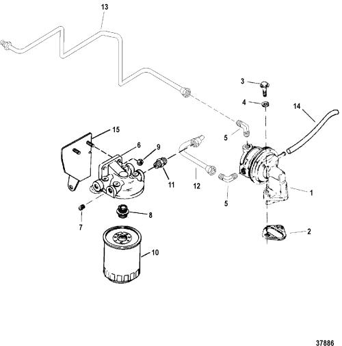 small resolution of  mercruiser engine diagram 7 4lx mpi bravo gen 6 gm 454 v 8 1996 1997