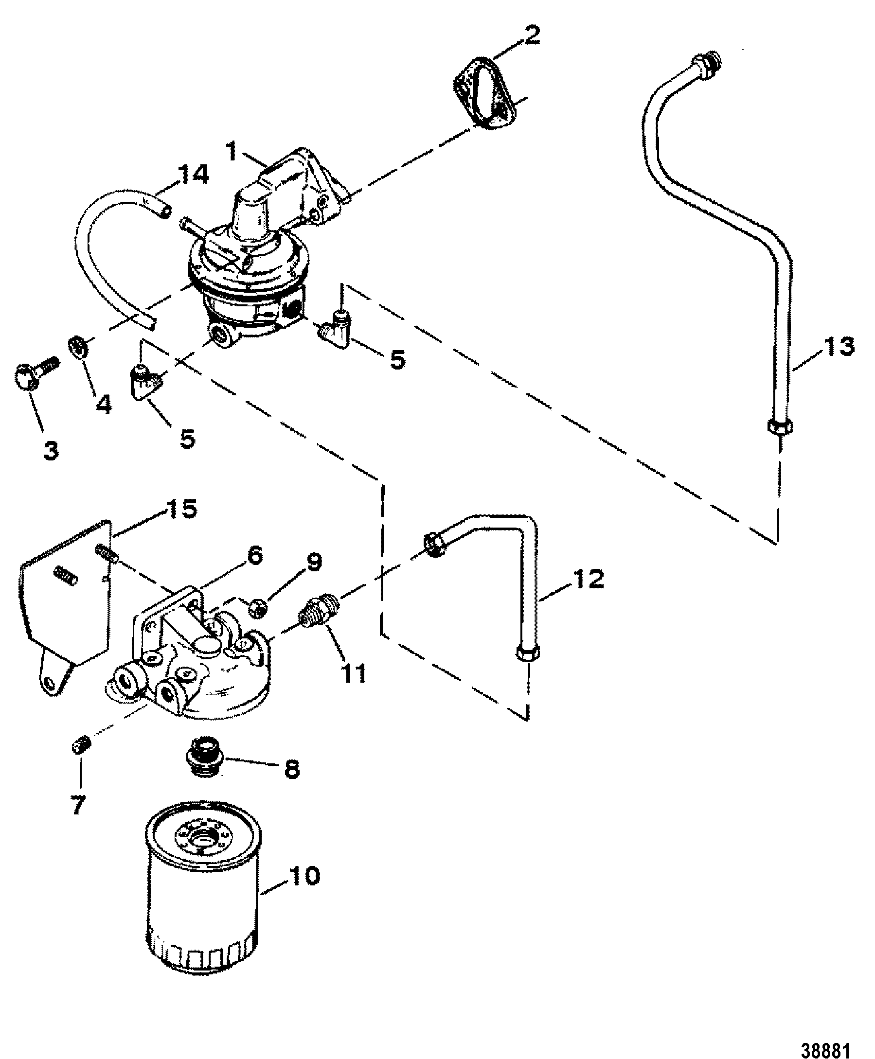 2002 mercury 225 efi fuel filter