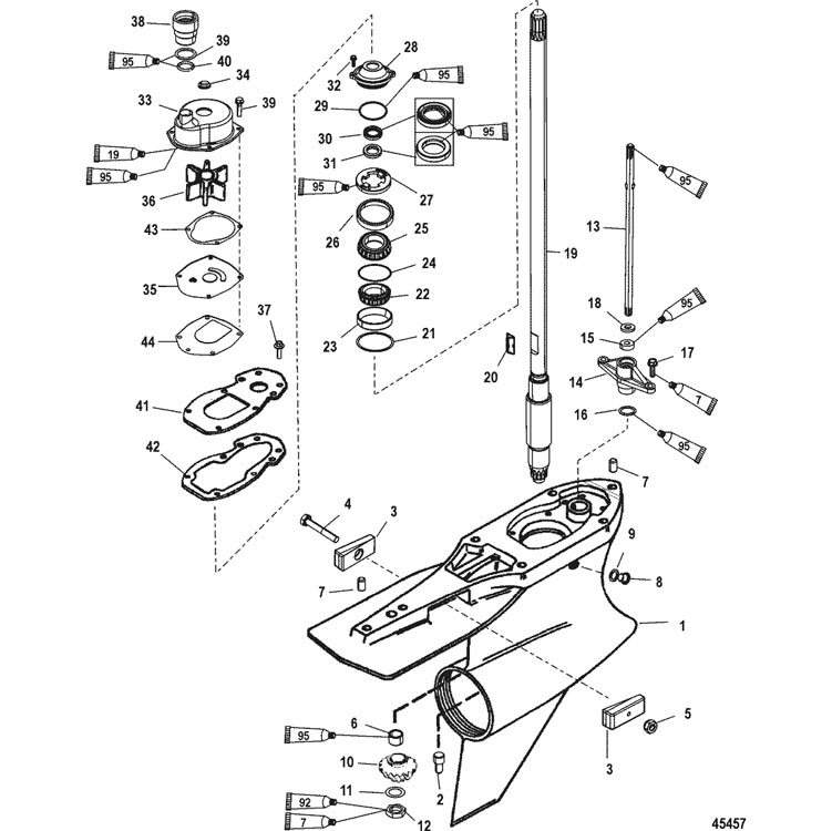Mercruiser Exhaust Parts Diagram Ignition Coil. Diagram