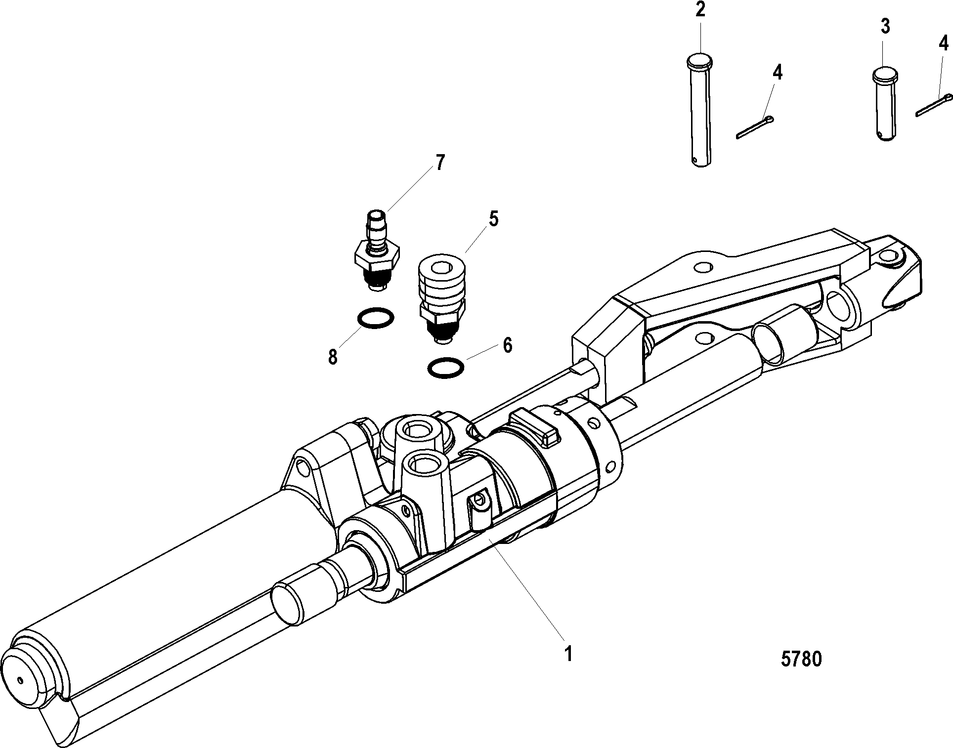 hight resolution of bravo three serial 0w250000 and up power steering actuator