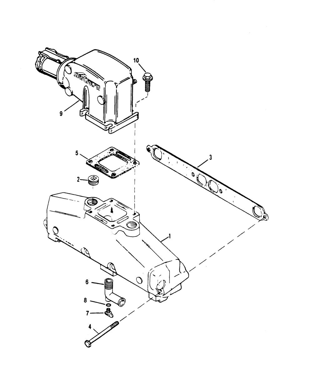medium resolution of cp performance exhaust manifold and exhaust elbow mercruiser 0f415189 thru 0f601999 1995 alternator mando diagram