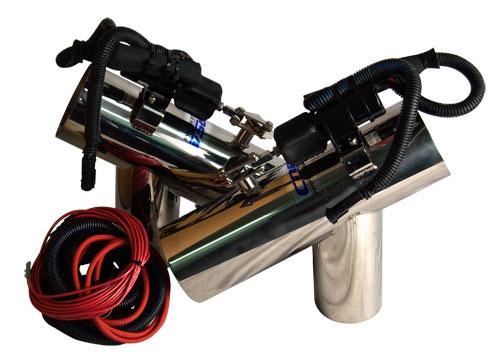 exhaust diverter systems volvo 5 7 gi sx cobra duoprop volvo 5 7 gl sx