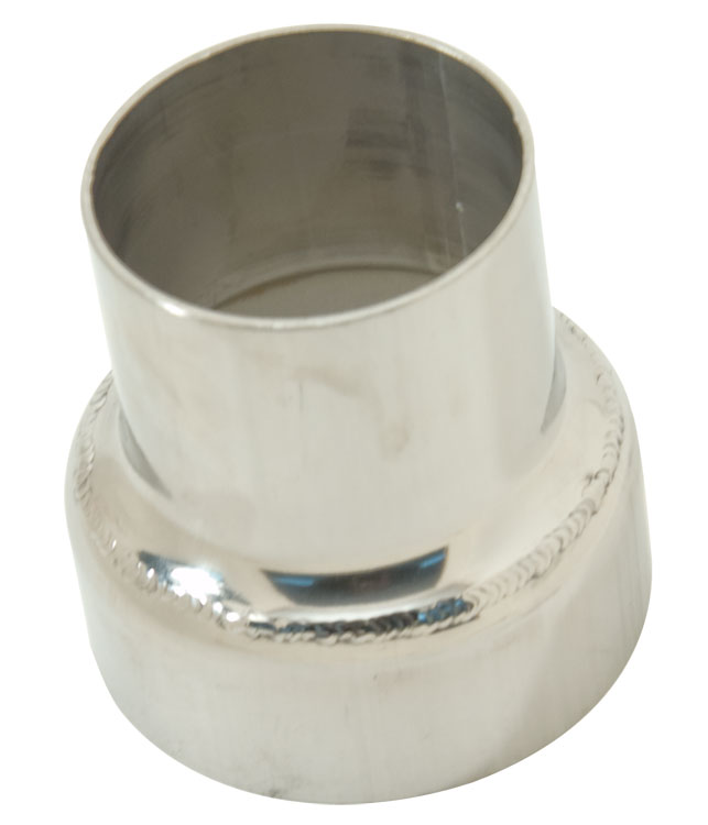 3 to 4 316l stainless steel inline exhaust reducer