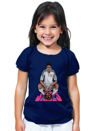 TShirt Fille Football Stars James Rodriguez  Real Madrid blue  Enfant