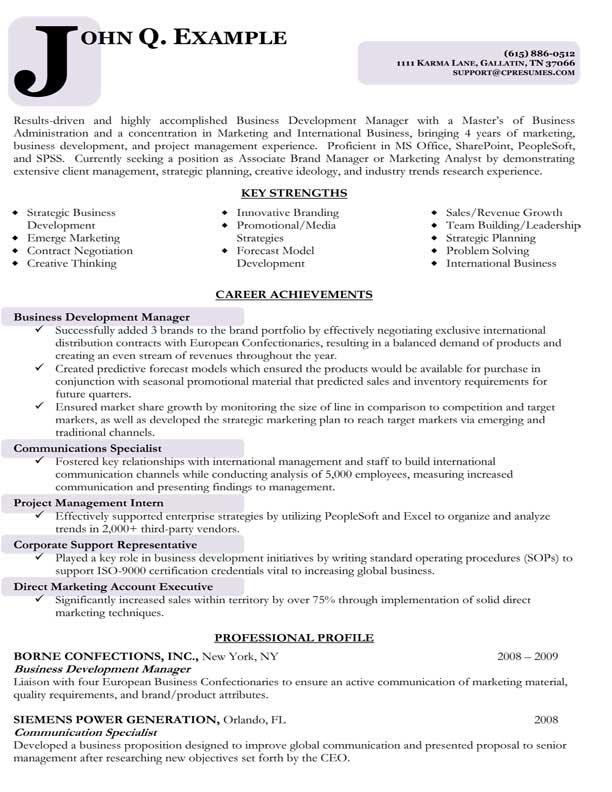 Development Resume Sample - Resume Sample