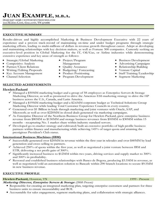 resume miscellaneous information