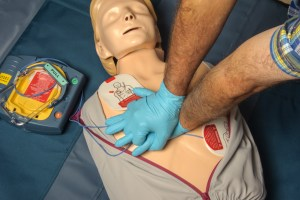 CPR given with AED