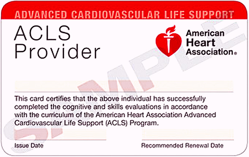Closed) Advanced Cardiac Life Support – Initial Certification Course ...
