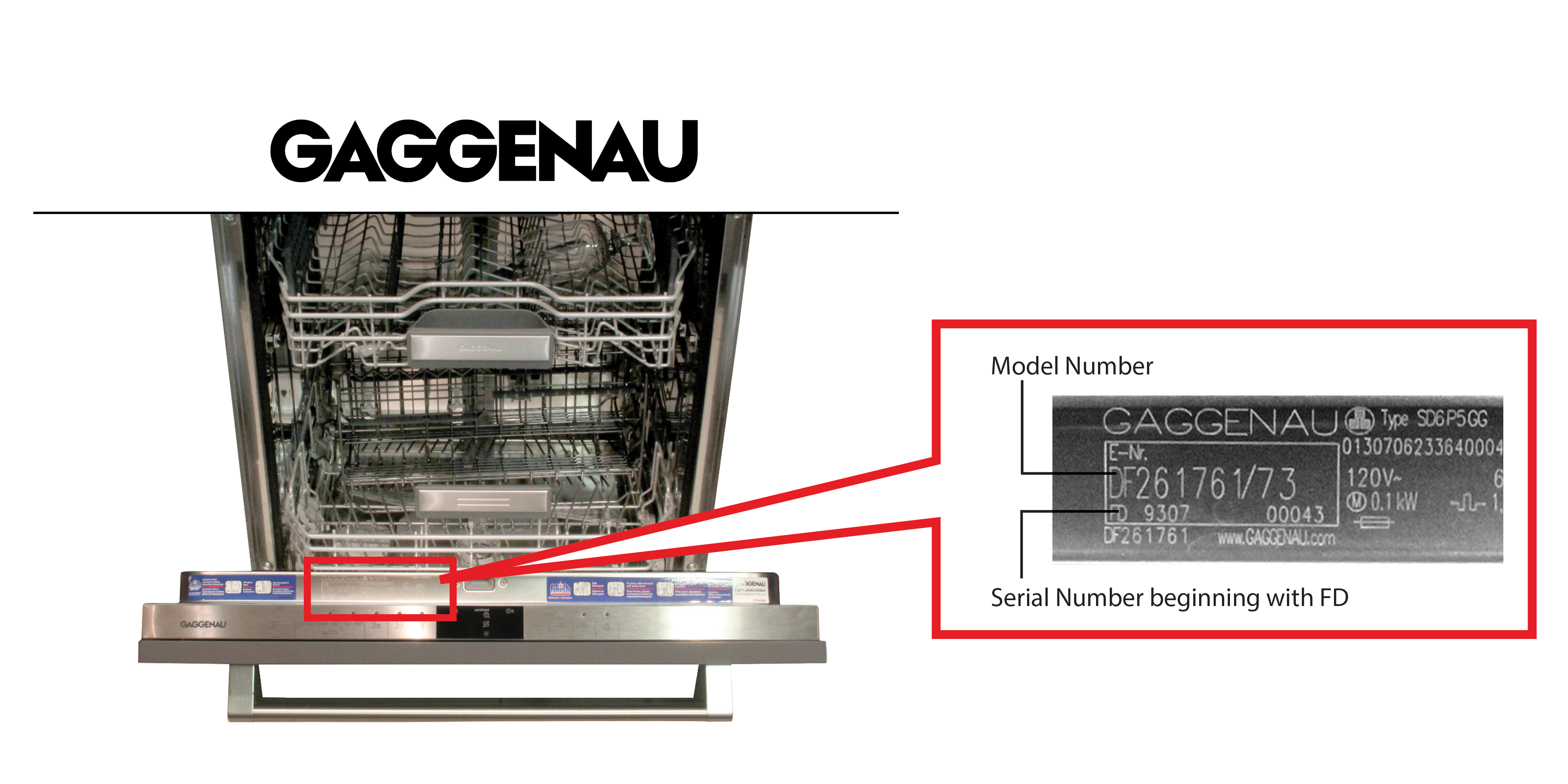 hight resolution of gaggenau dishwasher model and serial number location