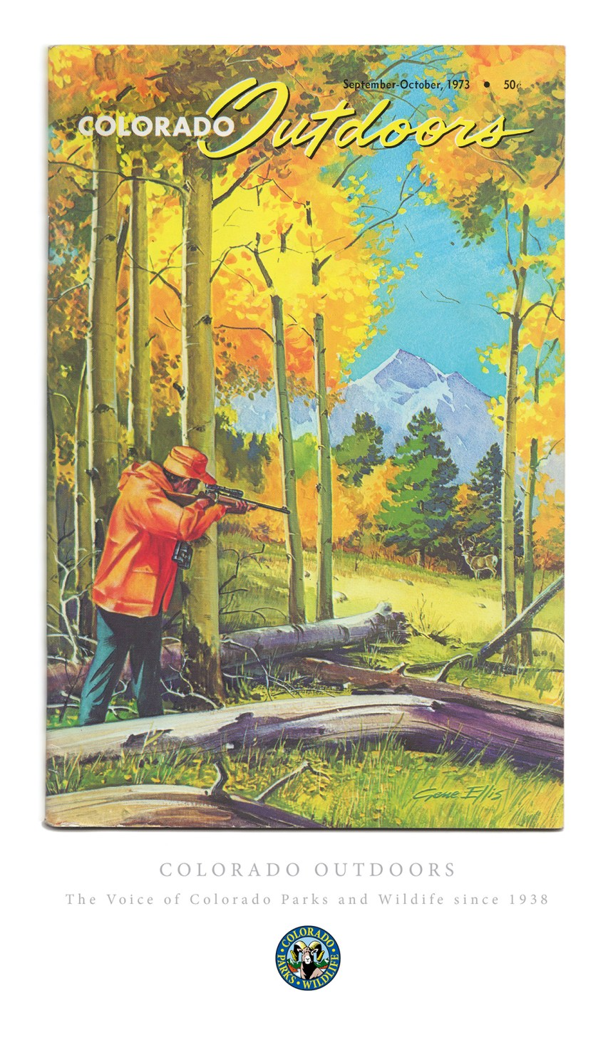 Colorado Outdoors Vintage Cover Poster