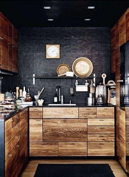 rustic kitchen clock cabinets cleveland ohio 深色系高冷范儿8个不走寻常路的厨房 装修图 房产频道 重庆新闻网 把厨房 墙面涂刷成纯黑色绝对是个大大的挑战 若要尝试请慎重 为了不让整体效果看起来太沉重 加点其它的颜色与材质倒也不错 有了马赛克 油污水渍也更加容易清理啦