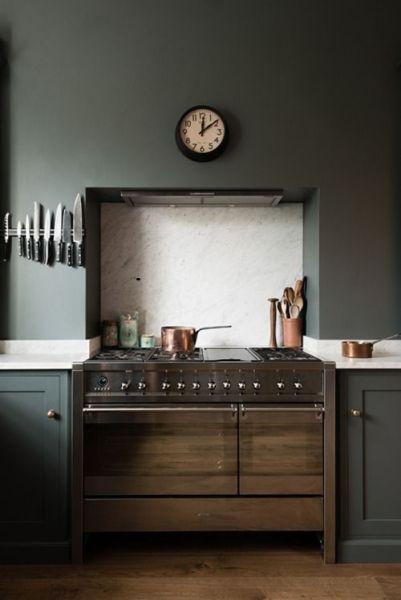 rustic kitchen clock aid refrigerators 深色系高冷范儿8个不走寻常路的厨房 装修图 房产频道 重庆新闻网