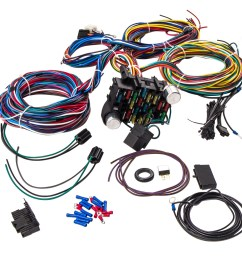 21 circuit universal wiring harness loom eazy wiring suit hot rod rat rod [ 1000 x 1000 Pixel ]