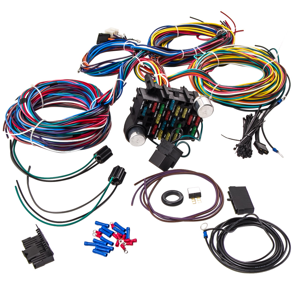 hight resolution of 21 circuit universal wiring harness loom eazy wiring suit hot rod rat rod