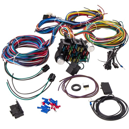 small resolution of 21 circuit universal wiring harness loom eazy wiring suit hot rod rat rod